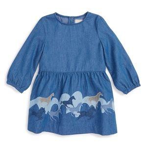 STELLA MCCARTNEY KIDS Skippy Chambray Horse Dress